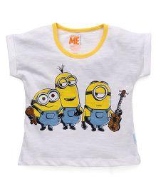 Minions Short Sleeves Printed T-Shirt - White