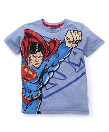 Superman Half Sleeves Printed T-Shirt - Blue