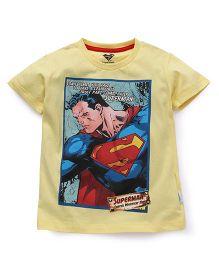Superman Short Sleeves Printed T-Shirt - Yellow
