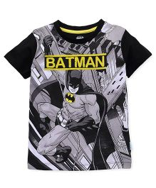 Batman Half Sleeves T-Shirt Batman Print - Black