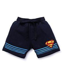 Superman printed Shorts - Navy Blue