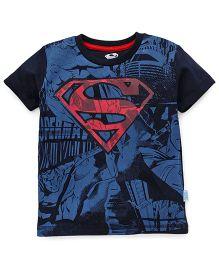 Superman Short Sleeves Printed T-Shirt - Navy Blue