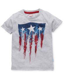 Avengers Half Sleeves Printed T-Shirt - Grey