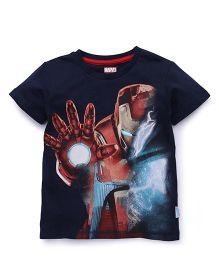 Avengers Half Sleeves Printed T-Shirt - Navy