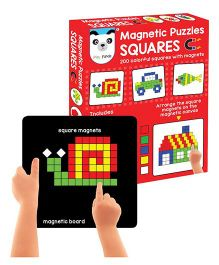 Play Panda Magnetic Puzzles Squares - Multi Color