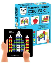 Play Panda Magnetic Puzzles Circles - Multi Color