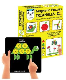 Play Panda Magnetic Puzzles Triangles - Multi Color