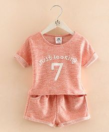 Pre Order - Mauve Collection Just Looking Top & Shorts Summer Sets - Peach