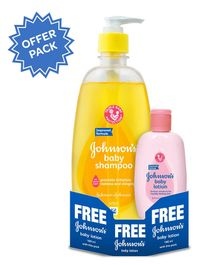 Johnson's Baby Shampoo 475 ml Plus Get Free 100 ml Johnson's Baby Lotion