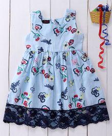 Pspeaches Sleeveless Cotton Dress - Blue