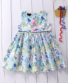 Pspeaches Floral Detailing Dress - Multicolour