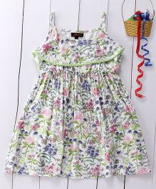 Pspeaches Floral Print Singlet Dress - Green