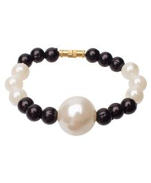 Daizy Pearl Bracelet With Beads - Black & White