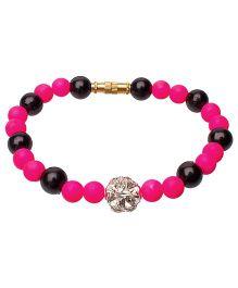 Daizy Pearl Bracelet - Hot Pink & Black