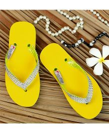 D'Chica Diamond Flip Flops - Yellow