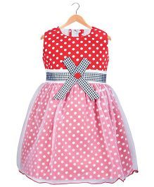 Kid1 Polka Party Dress - Red