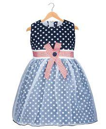 Kid1 Polka Party Dress - Navy Blue