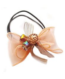 Reyas Accessories Bow Design Ponytailband - Peach