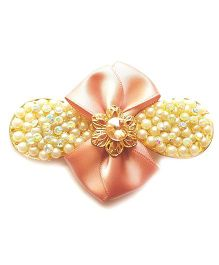 Reyas Accessories Pearl & Crystal Side Clip - Pink
