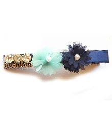 Reyas Accessories Scarlet Side Hair Clip - Navy Blue