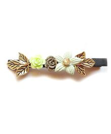 Reyas Accessories Flower Design Side Hair Clip - Navy Blue