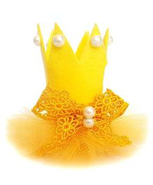 Reyas Accessories Crown Hair Clip - Yellow