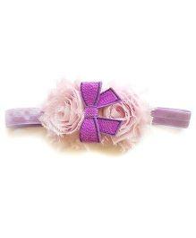 Reyas Accessories Shabby Rose Headband - Purple & Lavender