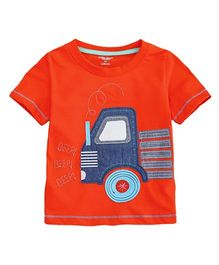 Superfie Red Colored Truck Print Tee - Red