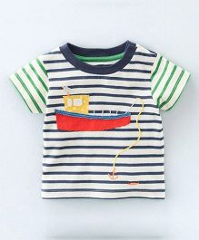Superfie Boat Print Stripes Tee - Multicolour