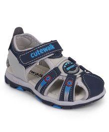 Cute Walk by Babyhug Sandals With Velcro Closure - Blue Grey