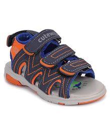 Cute Walk by Babyhug Sandals With Velcro Closure - Blue Orange