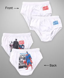 Justice League Briefs Superman & Batman Print Pack Of 2 - White Red Blue