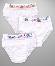 Doraemon Briefs Pack Of 3 - White