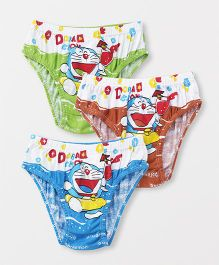 Doraemon Briefs Pack Of 3 - Blue Green Brown