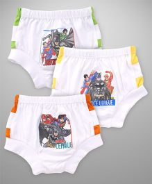Justice League Briefs Pack Of 3 - White Yellow Green & Orange