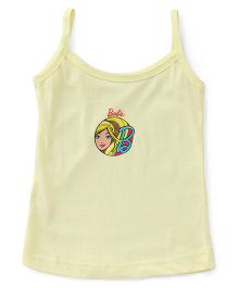 Barbie Singlet Slips Solid Color Barbie Printed - Light Yellow