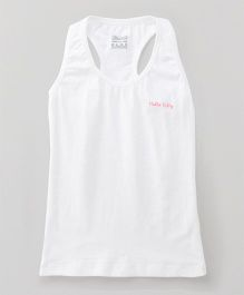 Hello Kitty Sleeveless Racerback Slip - White