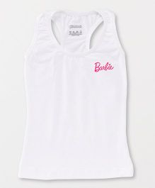 Barbie Sleeveless Racerback Slip - White