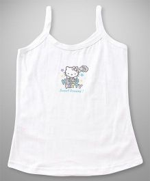 Hello Kitty Singlet Slip Sweet Dreams Print - White