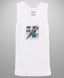 Ben 10 Sleeveless Vest Printed - White
