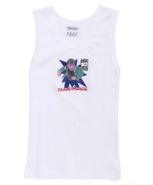 Ben 10 Sleeveless Alien Force Printed Vest - White