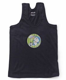 Doraemon Sleeveless Vest Printed - Navy