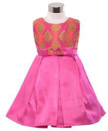 The KidShop Ethinc Indian Motif Print Dress - Pink