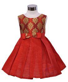 The KidShop Ethinc Indian Motif Print Dress - Red