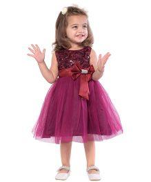 The KidShop Rosette Party Dress - Wine