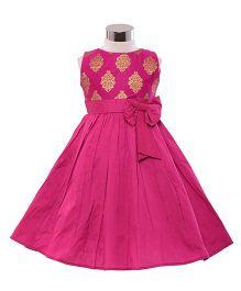 The KidShop Ethinc Indian Motif Print Dress - Pink & Gold