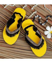 D'chica Trendy Flip Flop - Yellow