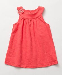 Pre Order - Awabox Bow Applique Shift Dress - Red