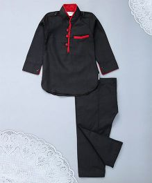 M'Andy Kurta & Pathani Set - Black