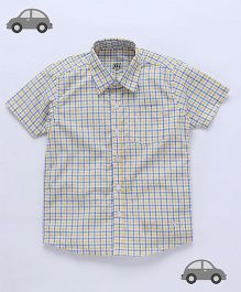Milonee Checkered Shirt - Blue & Yellow